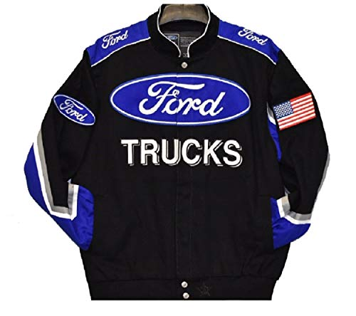 2019 Ford Trucks cotton Twill Jacket - Black - JH Design