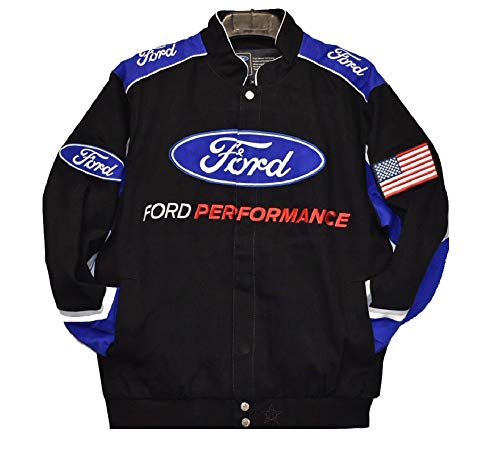 2019 Ford Performance cotton Twill Jacket - Black - JH Design