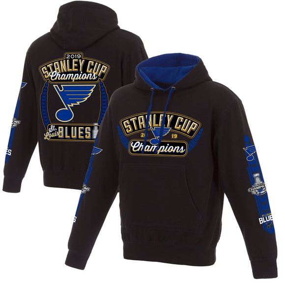 St. Louis Blues JH Design 2019 Stanley Cup Champions Pullover Hoodie - Navy - JH Design