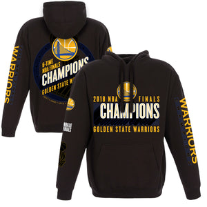 Golden State Warriors JH Design 2018 NBA Finals Champions Pullover Hoodie – Black