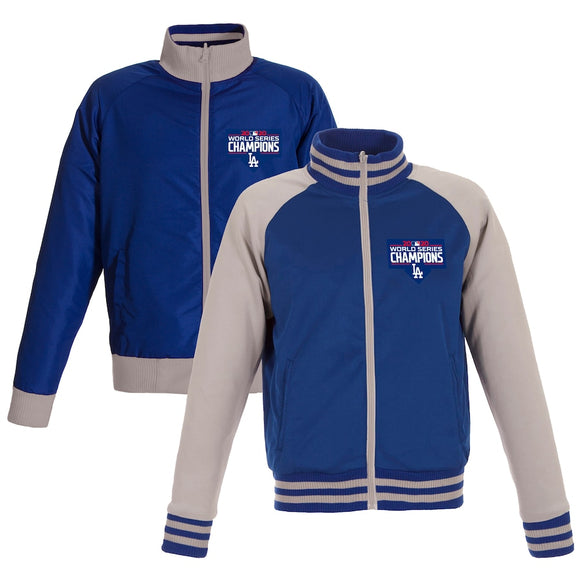 Los Angeles Dodgers JH Design 2020 World Series Champions Reversible Full-Snap Track Jacket - Royal/Gray - JH Design