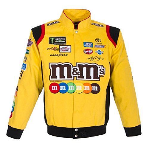 Kyle Busch M&M's Uniform Twill Jacket - Yellow - J.H. Sports Jackets