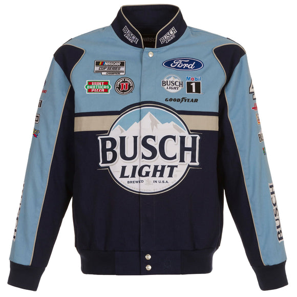2021 Kevin Harvick Bud Light Full-Snap Twill Uniform Jacket - Navy/Light Blue - JH Design