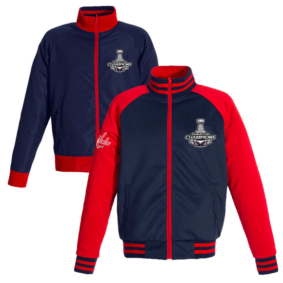 Washington Capitals JH Design 2018 Stanley Cup Champions Reversible Full-Zip Track Jacket – Navy - JH Design
