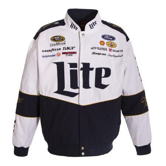 Brad Keselowski Miller Lite Uniform Jacket - White - JH Design