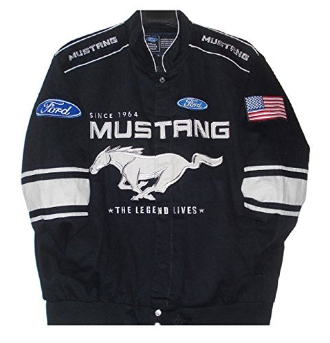 Ford Mustang Generic Twill Jacket - Black - J.H. Sports Jackets