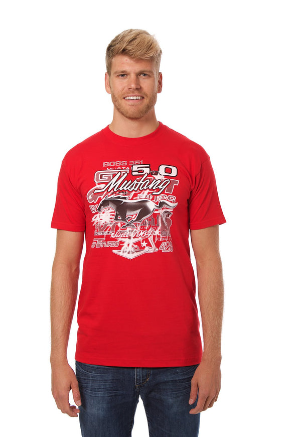 Ford Mustang T-Shirt - Red - JH Design