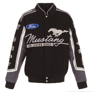 Ford Mustang Twill Jacket - Black - JH Design