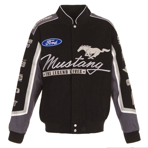 Ford Mustang Twill Jacket - Black - J.H. Sports Jackets
