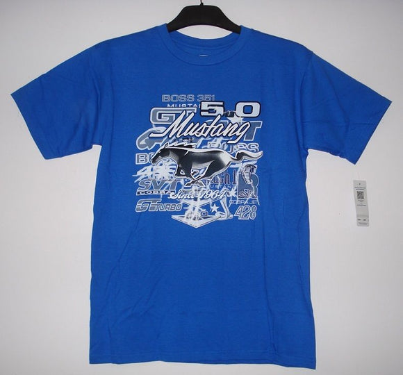 Mustang 5.0 T-Shirt - Royal - JH Design