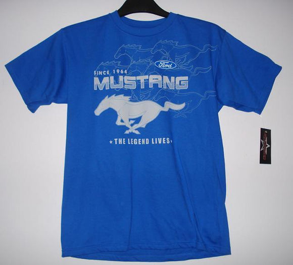 Mustang T-Shirt - Royal - JH Design