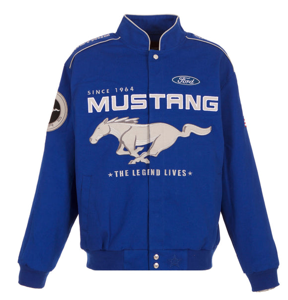 Ford Mustang Twill Jacket - Royal Blue - J.H. Sports Jackets