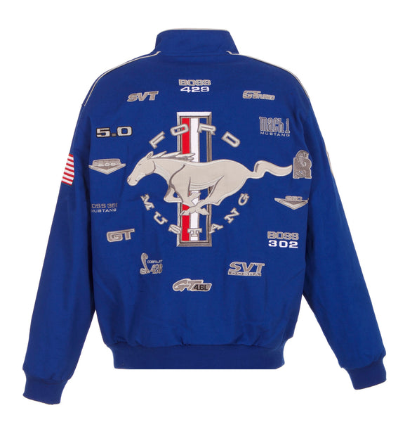 Ford Mustang Twill Jacket Royal Blue