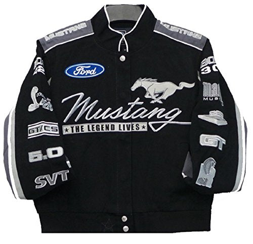 Ford Mustang Collage Women Twill Jacket - Black - J.H. Sports Jackets