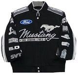 Ford Mustang Collage Women Twill Jacket - Black