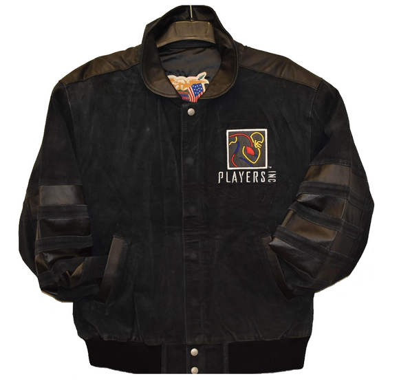 NFLPA - NFL Players Inc. Suede and Leather Jacket - Black - JH Design