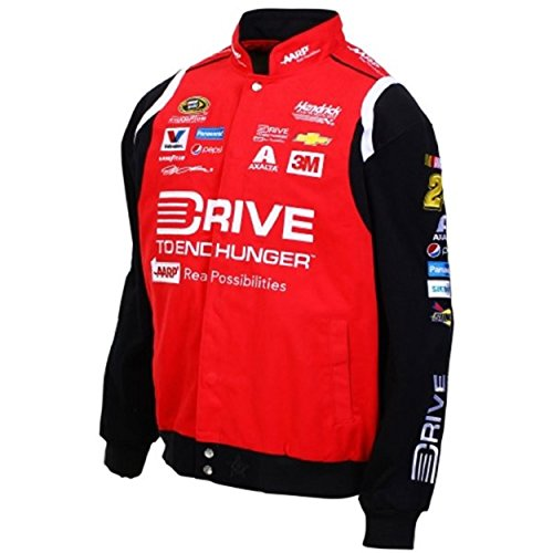Jeff Gordon Drive to End Hunger Twill Jacket - Black - JH Design