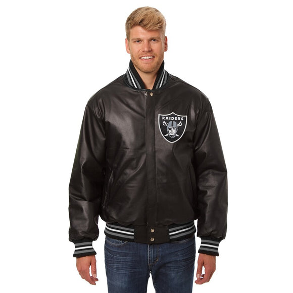 Las Vegas Raiders JH Design Leather Jacket - Black - JH Design