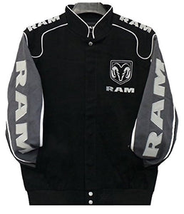 Dodge Ram Trucks Twill Jacket - Black - J.H. Sports Jackets