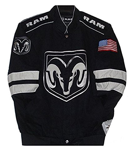 Dodge Ram Generic Twill Jacket - Black/Grey - JH Design