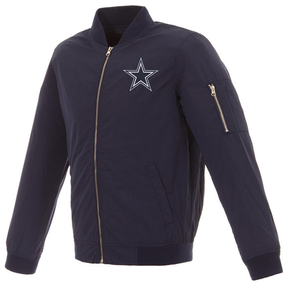 Dallas Cowboys JH Design Bomber Jacket - Navy - JH Design