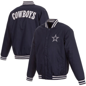 Dallas Cowboys JH Design Full-Zip Jacket - Navy - JH Design