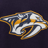 Nashville Predators Two-Tone Wool and Leather Jacket - Navy - JH Design