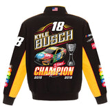 Kyle Busch JH Design Two-Time Monster Energy Nascar Cup Series Champion Jacket - JH Design