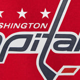 Washington Capitals Embroidered All Wool Two-Tone Jacket - Red/Navy - JH Design