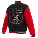 Toronto Raptors JH Design 2019 NBA Finals Champions Reversible Two-Toned Wool Jacket - Black/Red - JH Design