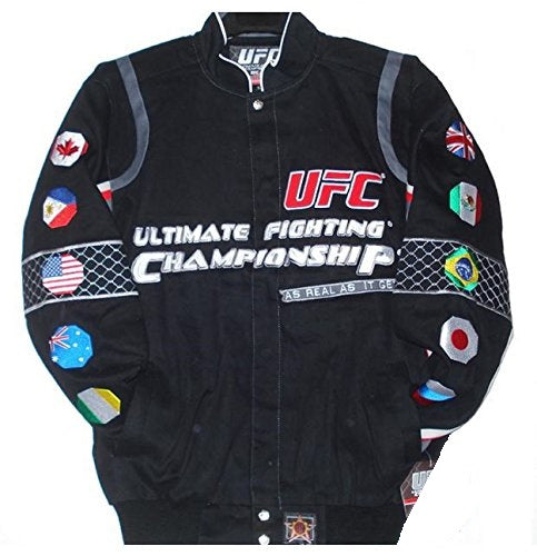 Ufc Ultimate Fighting Championship Twill Jacket - Black