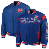Chicago Cubs Commemorative Championship Reversible Jacket - Royal - JH Design