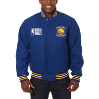 Golden State Warriors JH Design 2018 NBA Finals Champions All-Wool Full-Snap Jacket – Royal
