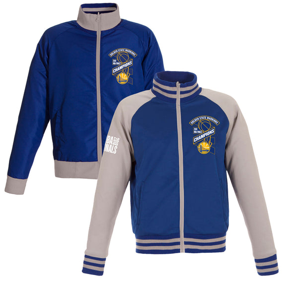 Golden State Warriors JH Design 2018 NBA Finals Champions Reversible Full-Zip Track Jacket – Royal/Gray - JH Design