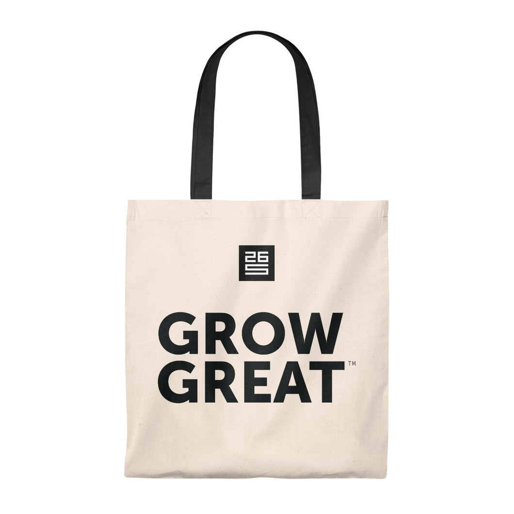 GROW GREAT Canvas Bag