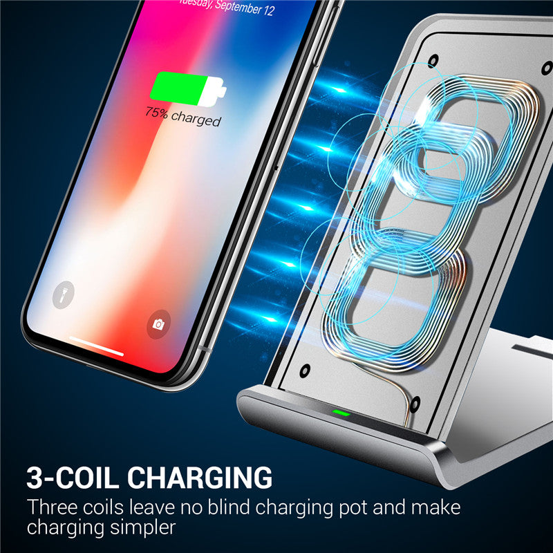 new product 09c0e 25b2e Turata Wireless Charger For iphone X, Quick Charge 3.0 Qi Wireless Charger  Pad Holder For Samsung LG Charging Base Dock Station