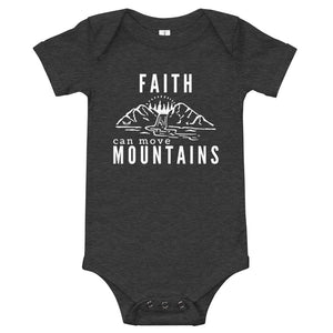 Faith Can Move Mountains Baby Bodysuit