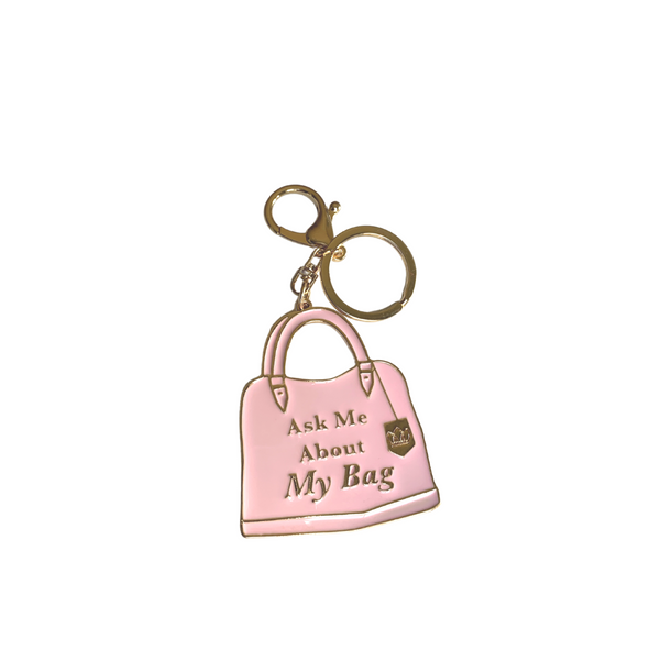 "Bag Charm ""Ask Me About My Bag"""