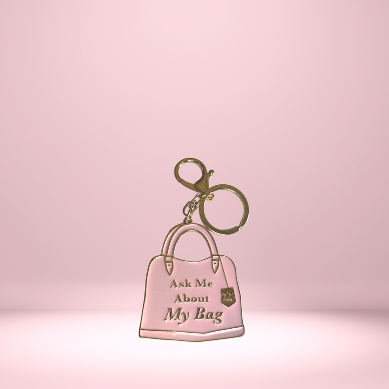 """Ask Me About My Bag"" Keychain"