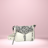 Charlotte Display Belt Bag - White Snake