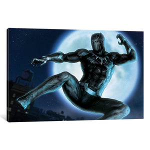 Luxe Black Panther Situational Art by Marvel Comics Canvas Print