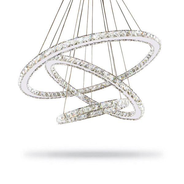 Luxe Halo Crystal Chandelier