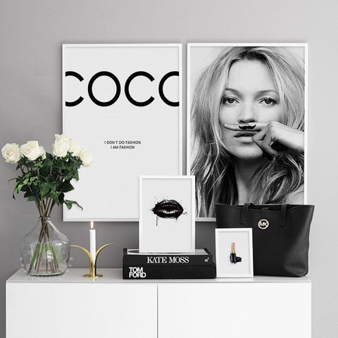 Luxe COCO Canvas Poster (No Frame)