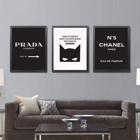 Luxe Fashion Canvas Poster (No Frame)