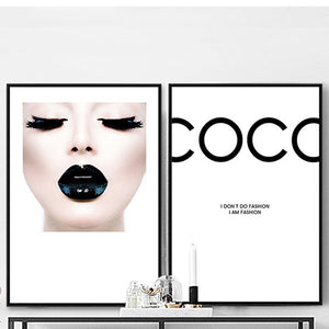 Luxe COCO Lovers Canvas Poster (No Frame)