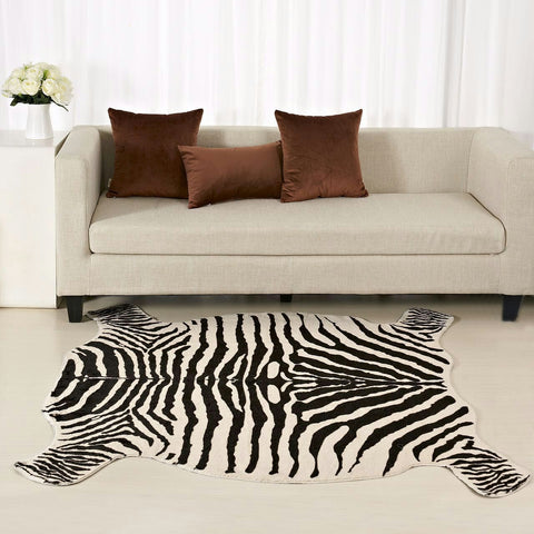 Luxe Zebra and Cow Hide Rug