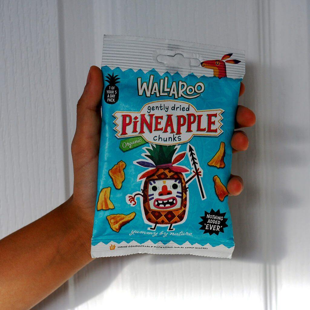 Organic dried pineapple snack
