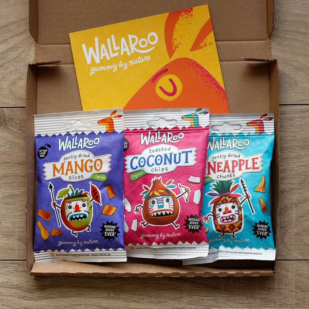 Wallaroo Organic dried fruit taster pack