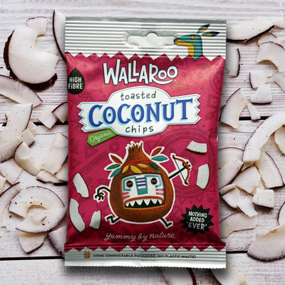 Wallaroo organic coconut chips is a single ingredient snack