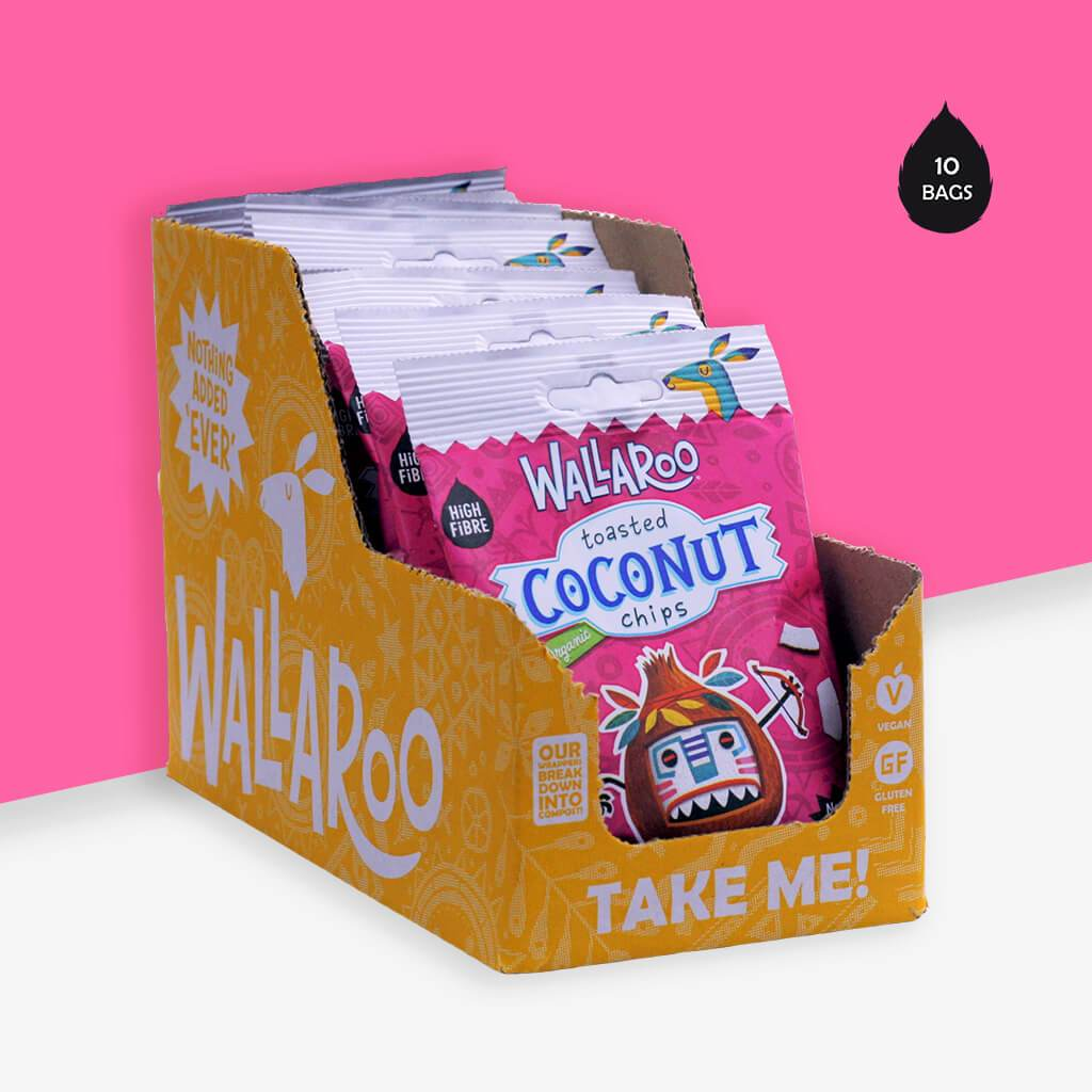 Wallaroo organic coconut healthy snack front of pack